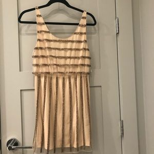 Alice + Olivia NWT Gold Beaded Dress